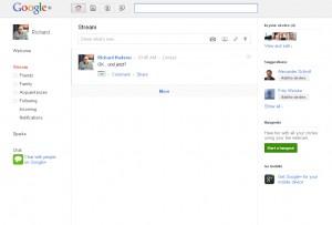 Ähm ja - ich und Google+ google