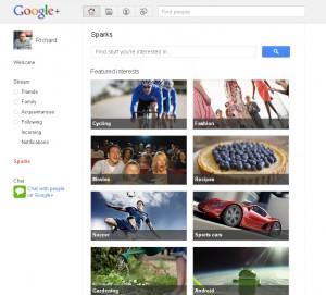 Ähm ja - ich und Google+ sparks